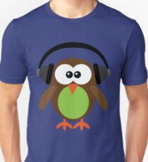 Cute Owl with Headphones T-Shirt