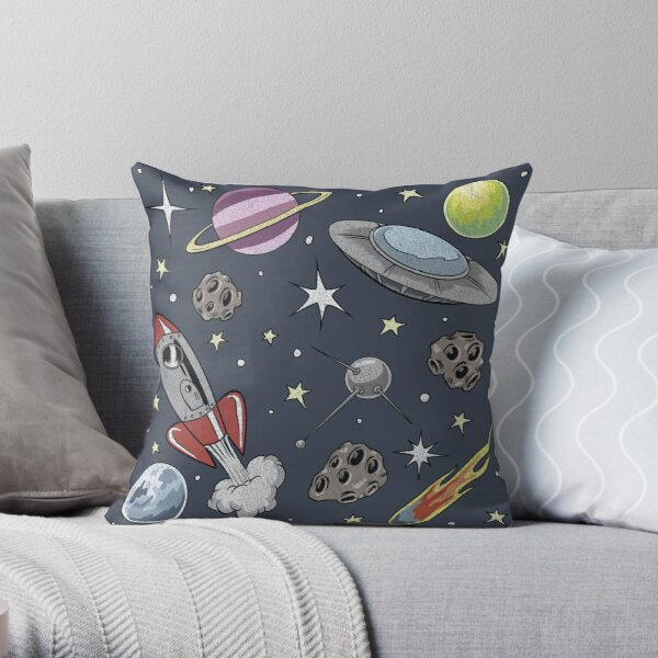It Came from Planet Retro Throw Pillow