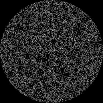 Virus (Circle Packed Circles) by RunStopRestore