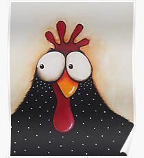 Goofy Chicken Poster