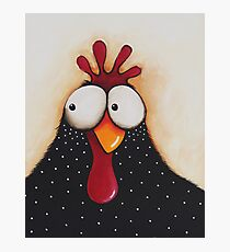 Goofy Chicken Photographic Print