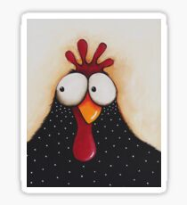 Goofy Chicken Sticker