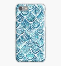 NAVY LIKE A MERMAID Fish Scales Watercolor iPhone Case/Skin