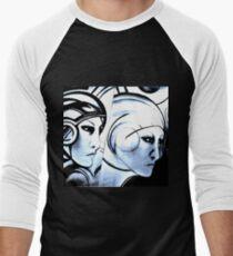 deco blue star,, Jacqueline Mcculloch Men's Baseball ¾ T-Shirt