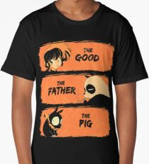 The Good, the Father and the Pig  Long T-Shirt