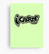 i create tags Canvas Print