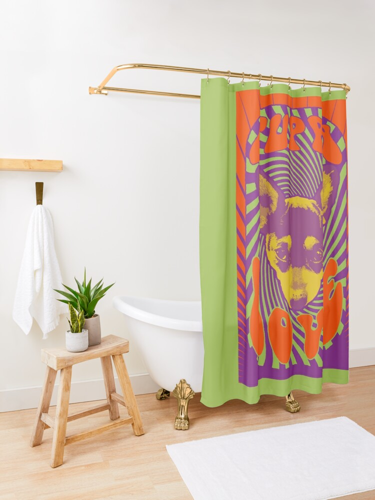 Alternate view of Puppy Love Shower Curtain
