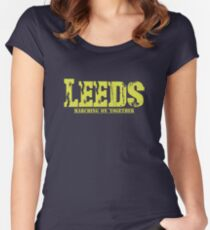 Leeds United LUFC Women's Fitted Scoop T-Shirt