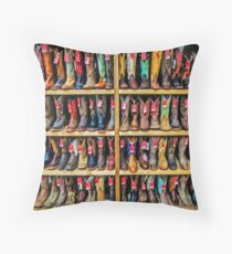 Cowboy Bootery - Fort Worth Stockyards Texas USA Throw Pillow