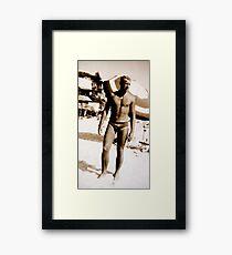 SPORTS / Swimmer Framed Print