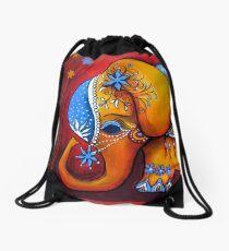 The Littlest Elephant Drawstring Bag