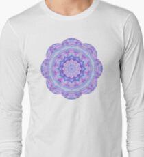 Purple Flower Mandala Long Sleeve T-Shirt