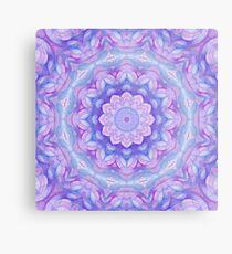 Purple Flower Mandala Metal Print