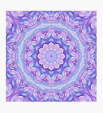 Purple Flower Mandala Photographic Print