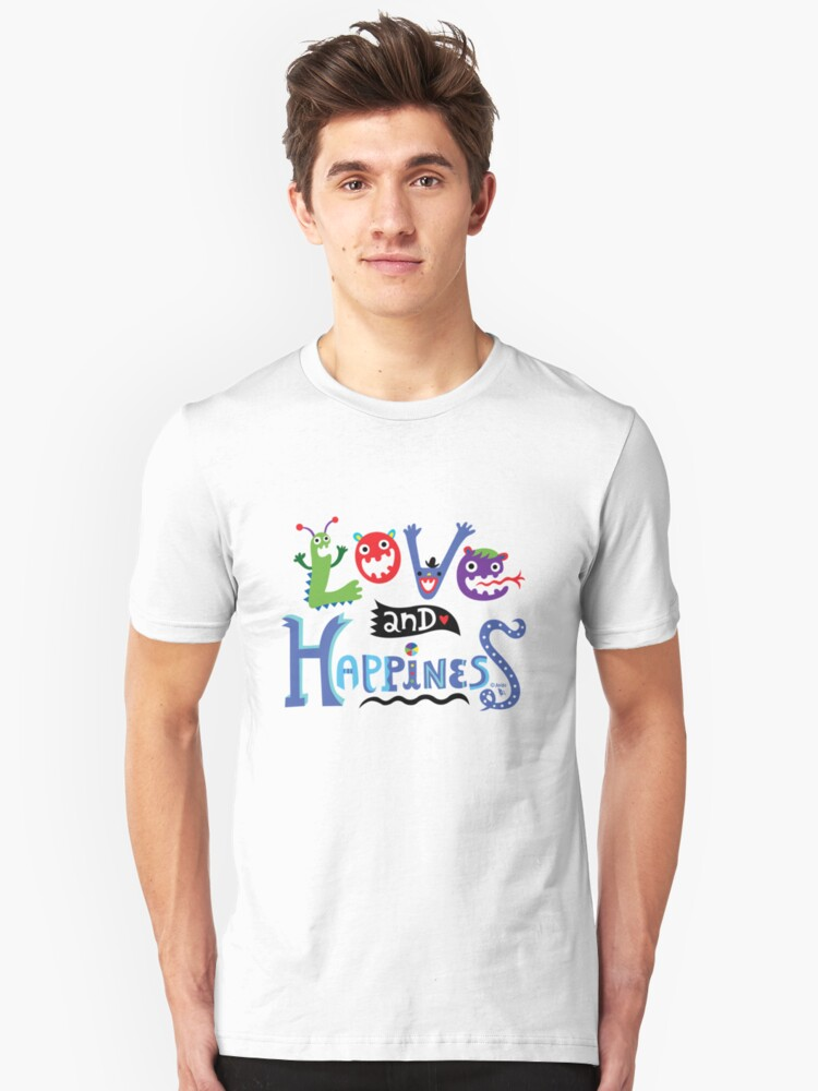 Love and Happiness  Unisex T-Shirt Front