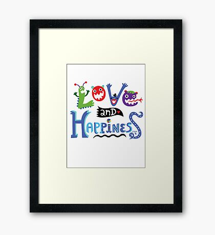 Love and Happiness  Framed Print