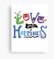 Love and Happiness  Canvas Print
