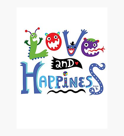 Love and Happiness  Photographic Print