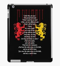 Rains of Castamere iPad Case/Skin