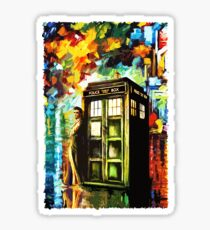Fun Watercolor Time Lord Art Painting Sticker