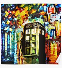 Fun Watercolor Time Lord Art Painting Poster