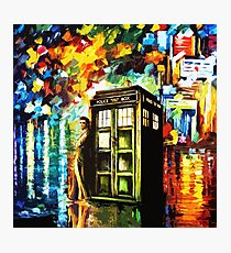 Fun Watercolor Time Lord Art Painting Photographic Print