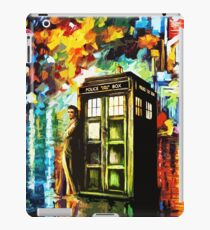 Fun Watercolor Time Lord Art Painting iPad Case/Skin