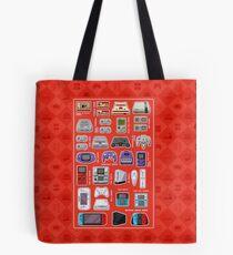Red Pixel Art Consoles Tote Bag