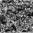 """Fancy Foot Work - Black & White"" by kcd-designs"