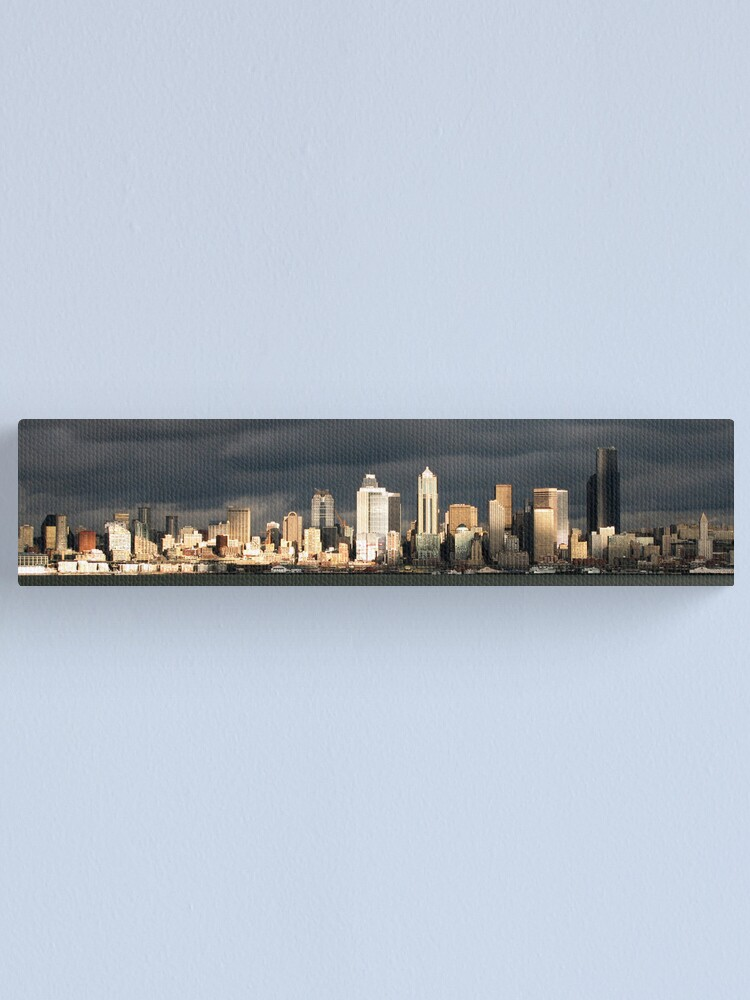 Alternate view of Seattle Skyline from Alki Canvas Print