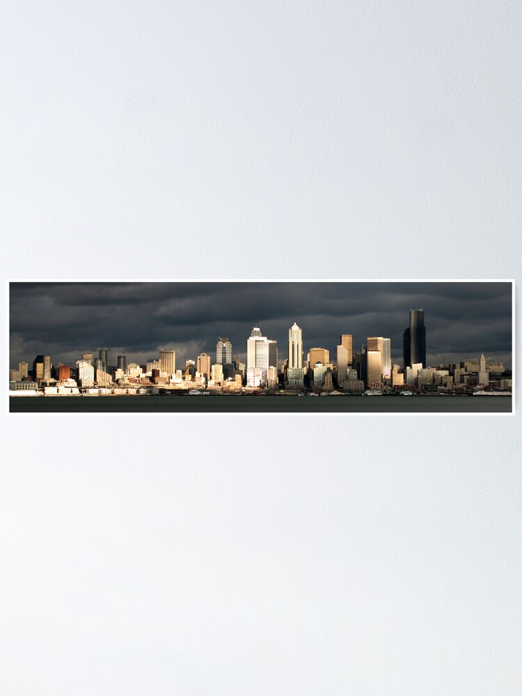 Alternate view of Seattle Skyline from Alki Poster