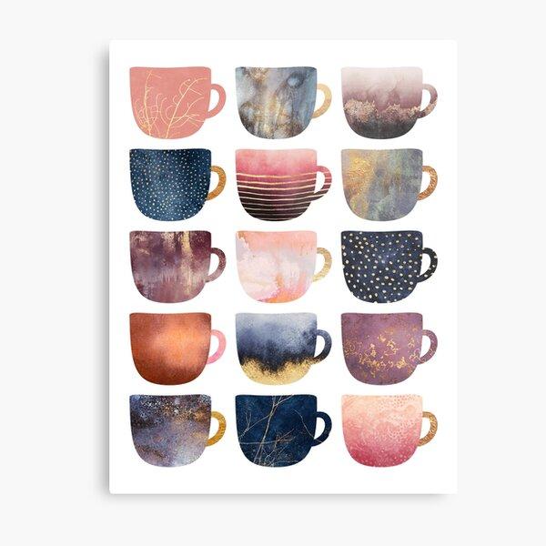 Pretty Coffee Cups 2 Metal Print