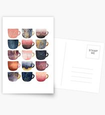 Pretty Coffee Cups 2 Postcards