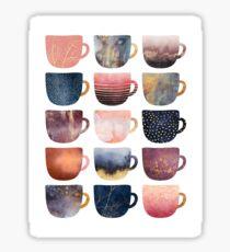 Pretty Coffee Cups 2 Sticker