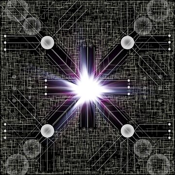 「Cryptic Schematic」 Core of the Planetary Guardian Mainframe by AbyssalSoul
