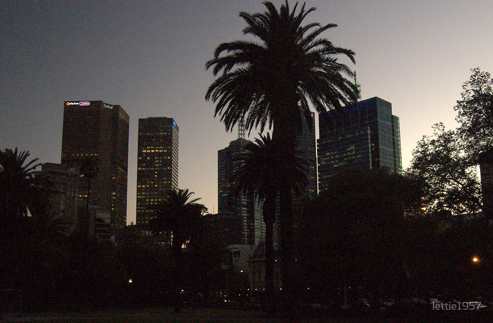 Melbourne after sunset by lettie1957