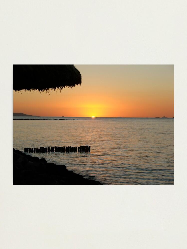 Alternate view of Fijian Sunset 1 Photographic Print