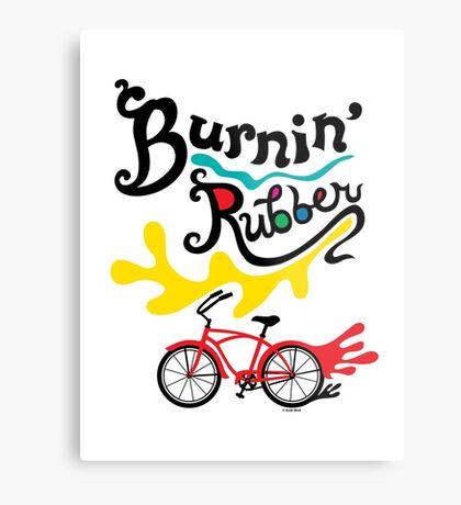 Burnin' Rubber  Metal Print