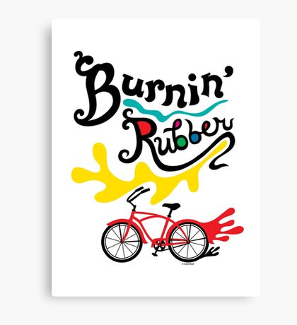 Burnin' Rubber  Canvas Print