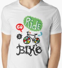 Go Ride a Bike   Men's V-Neck T-Shirt