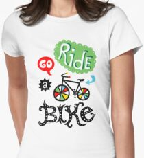 Go Ride a Bike   Women's Fitted T-Shirt
