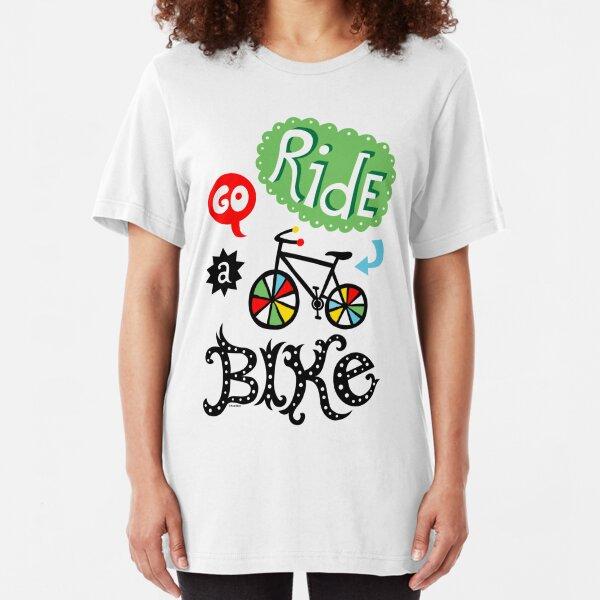Go Ride a Bike   Slim Fit T-Shirt