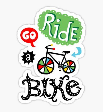 Go Ride a Bike   Sticker
