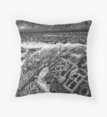 Paiute Petroglyphs and the White Mountains Throw Pillow