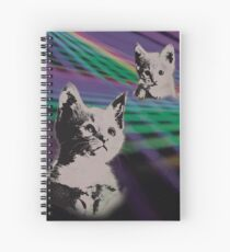 Cat on We Have Lasers Spiral Notebook