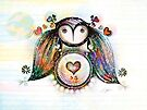 Love and Light Owl by Karin Taylor