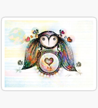 Love and Light Owl Sticker