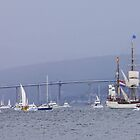 Tall Ships Leaving Hobart by Graeme  Hyde