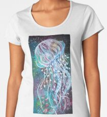 Space Floral Jellyfish  Women's Premium T-Shirt