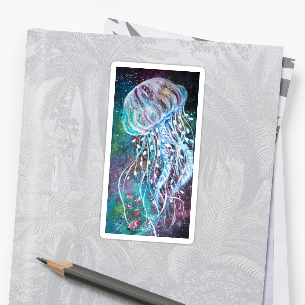 Espacio Medusas florales Pegatina